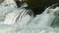 Rushing Mountain Stream Water - stock footage