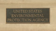 Environmental Protection Agency (E.P.A.) - stock footage