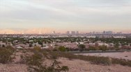 Las Vegas City and Mountains Before Sunset HD Stock Footage