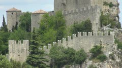Tower in Republic of San Marino, Italy, Europe - stock footage