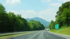 Speeding Down the Interstate - stock footage