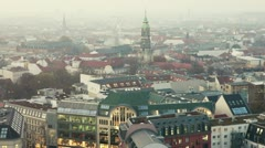 panning over downtown of berlin, germany - stock footage