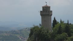 Montale tower, San Marino, Italy - stock footage