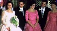 Stock Video Footage of Bride Groom Bridesmaids WEDDING GROUP Photo 1960s Vintage Film Home Movie 1620
