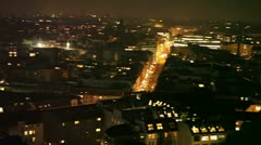 panning over city at night - stock footage
