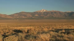 Nevada Wheeler Peak in distance Stock Footage