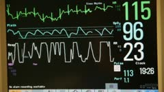 Heart monitor close up HD8483 Stock Footage
