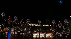 Christmas Market 20111211 203152 Stock Footage
