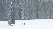 Stock Video Footage of HD: Couple Hiking In Winter