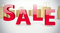 Sale sign on animated background Stock Footage