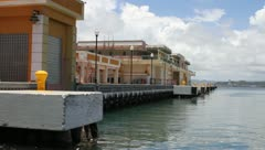 Old San Juan Pier view at the Coast Guard Pier Stock Footage