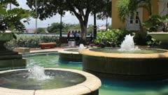 Fountain in Old San Juan- Puerto Rico Stock Footage