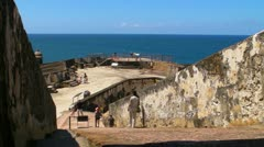 25p El Morro Castle 13 Stock Footage