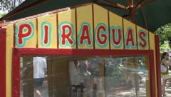 Piraguas cart - Ice in a cone - stock footage
