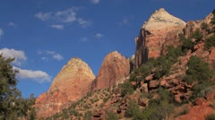 Zion Brothers and Mountain of sun Stock Footage