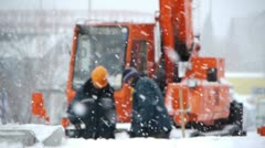 Winter construction Stock Footage