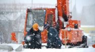 Stock Video Footage of Winter construction