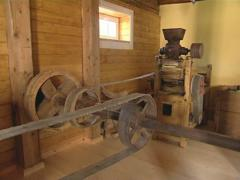 Old mill equipment. Grain milling. Ancient Industry. Stock Footage
