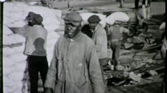 Stock Video Footage of African American Black Dock Workers Great Depression Vintage Film Archival 1633