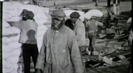 Stock Video Footage of African American Dock Workers Circa 1935 (Vintage Film Archival Footage) 1633