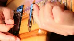Custom electric rock guitar XCU Stock Footage