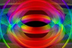 Stock Video Footage of Rainbow Swirl Loop NTSC