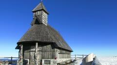 HD: Beautiful Wooden Chapel Stock Footage