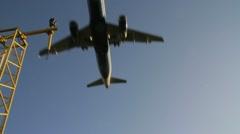 Plane landing - stock footage