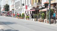 Divan yolu street Stock Footage