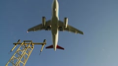 Aircraft coming in to land Stock Footage