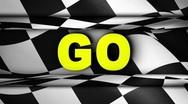 GO in Checker Open/Close Door - HD1080 Stock Footage