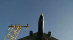 Aircraft coming in to land - stock footage