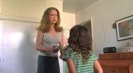 Young Mother, Daughter Fight, Argue 1 Stock Footage