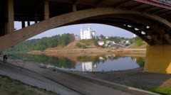 A bridge and a river Stock Footage
