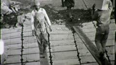 African American STEVADORS Workers Black 1930s Vintage Film Archival 1632 - stock footage