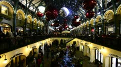 Christmas at Covent Gardens, London Stock Footage