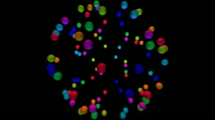Molecule Loop HD 720p (Rainbow) - stock footage