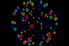 Molecule Loop NTSC (Rainbow) - stock footage