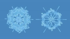 Growing snowflakes with alpha, #2 Stock Footage