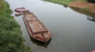 Stock Video Footage of A barge on the river