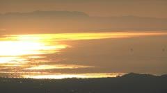 Morn sun water SBCAL Stock Footage