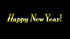 Happy New Year Animation 2362 Stock Footage