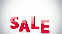 Sale sign animation Stock Footage