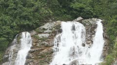 Stock Video Footage of Large waterfall in Ecuadorian Andes