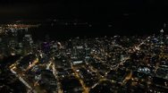 Stock Video Footage of Downtown Seattle at Night - Aerial
