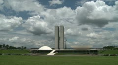 Brazilian Congress Hall in Brasilia Stock Footage