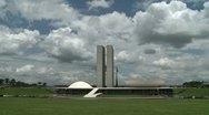 Brazilian Congress Hall in Brasilia Stock Footage