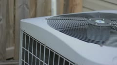 Stock Video Footage of heat pump fan