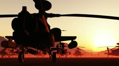 Apaches Base 02 loop Stock Footage