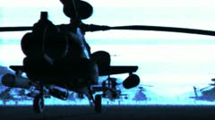 Apaches Base 07 bad signal Stock Footage